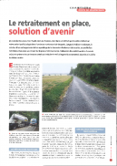 Le retraitement en place, solution d'avenir
