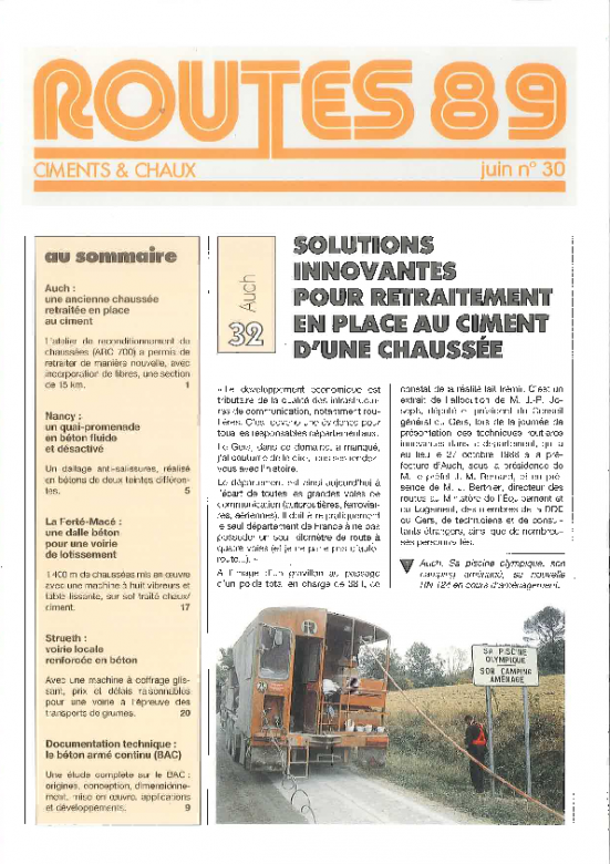 Chantier retraitement Routes 89